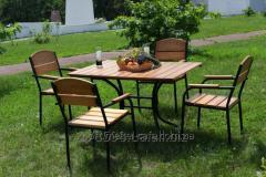 Комплект мебели Премиум KIT-Premium-BL черный металл, светлое дерево