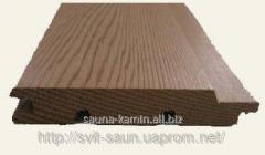 Lining the Canadian cedar for a sauna and a bath