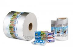 Film packing for dairy packages