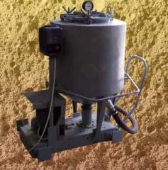 Equipment for receiving foam-concrete blocks