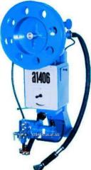 The A-1406 automatic welding machine with a case