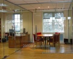 Glass partitions for the house