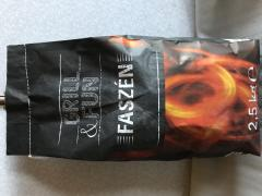 Charcoal in paper bags. The press of your logo is