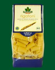 Tubule pasta corrugated Rigatoni