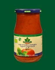 Sauce with a basil