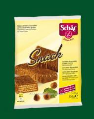 Chocolate wafers with Snack Dr. Schär hazelnuts