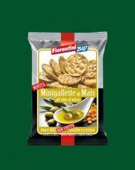 Corn snek with olive oil