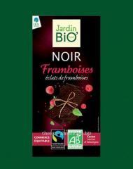 Dark chocolate with raspberry