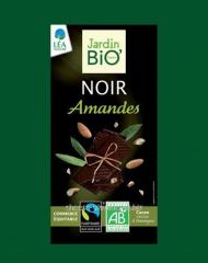 Dark chocolate with almonds
