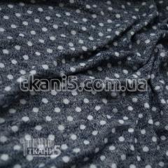 Fabric Mohair peas blue melange (4 mm) 4672