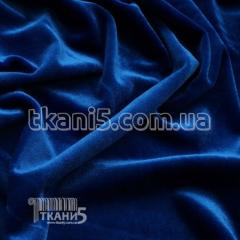 Fabric of Streych velvet (electro-blue) 4581