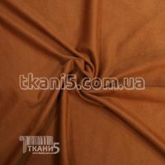 Ткань Стрейч замша тонкий (рыжий)