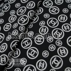 Fabric Kotton Chanel's print (black) 4700
