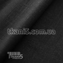 Fabric Flax natural (black) 3783