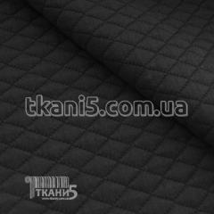 Fabric Jersey quilted (black) 4554