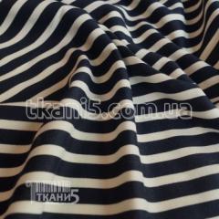 Fabric Jersey French strip dark blue (10 mm) 3877