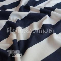Fabric Jersey of frantsuzskiya strip dark blue (35