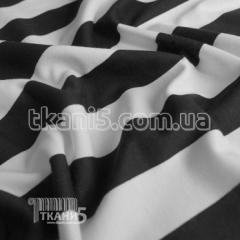 Fabric Jersey of frantsuzskiya strip black (35 mm)