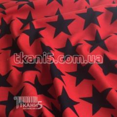 Fabric French jersey of a star 4082