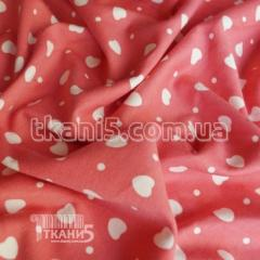Fabric French jersey hearts 3865