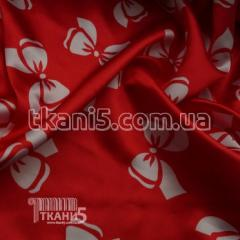 Fabric Atlas bows red-white (50-70 mm) 4450