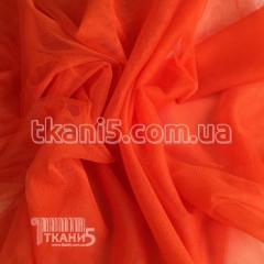 Fabric Grid streych (orange) 3177