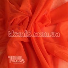 Fabric Grid streych (neon coral) 4396
