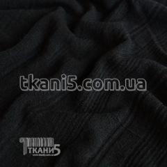 Fabric Jersey mohair strip large (black) 4131