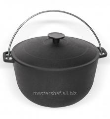 Cauldron tourist pig-iron with a handle and a