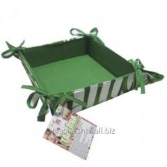 Plate for bread 20 * 20 * 5,7 cm, cotton a bamboo,