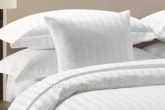 Bed elite linen strayp-sateen (white), euro se