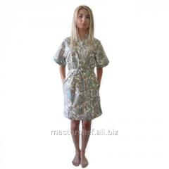Dressing gown female Paisley blue, size L