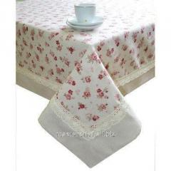Cloth of TM Provence red Rose with the edging and