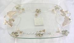 Dish rectangular decor Grapes (44 * 29 * 8 cm),