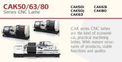 A series of lathes with ChPU - CAK50/63/80