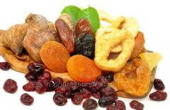 Dried fruits, candied