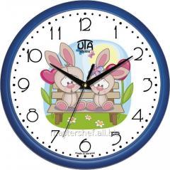 Детские настенные часы Влюбленные зайчата, код: 01