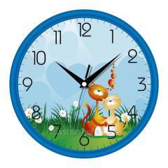 Детские настенные часы котики, код: 01 Bl 19