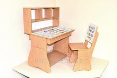School desk teenage + chair English alphabe