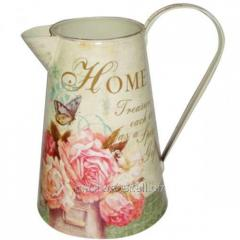 Decorative metal jug Bouquet of roses of 16*21,5
