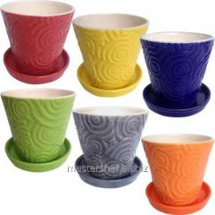 Flower pot mix-3 12,5 * 12,5 * 12 cm (0,8l), code: