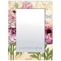 Mirror with a frame Flowers of 80х60х4,5 cm