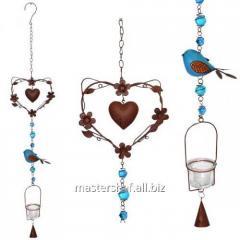 Suspended decorative candlestick Lyubov of 90 cm,