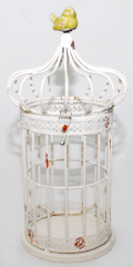 Candlestick decorative cage Zephyr of 32 cm, code: