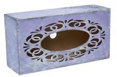 Napkin holder Lavender, rectangular with a molding