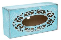 Napkin holder Tiffany, rectangular with a molding
