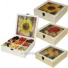 Box for sweets/tea Ukraine 24х24х7,5 cm, a code: