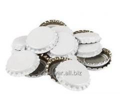 Beer stopper metal, white, 50 pieces.