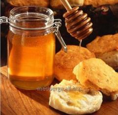 Honey August of a forest raznotravya dark brown,