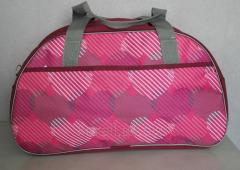The female sports bag, volume is 45 liters